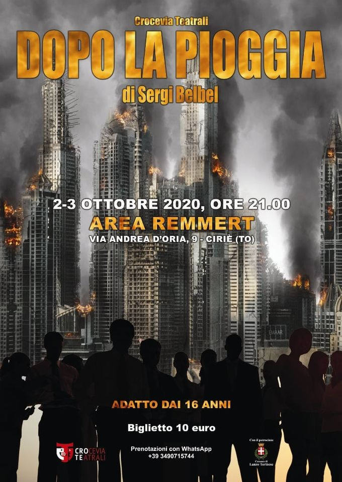 """Dopo la pioggia"" - Sergi Belbel - Crocevia teatrali ciriacese"