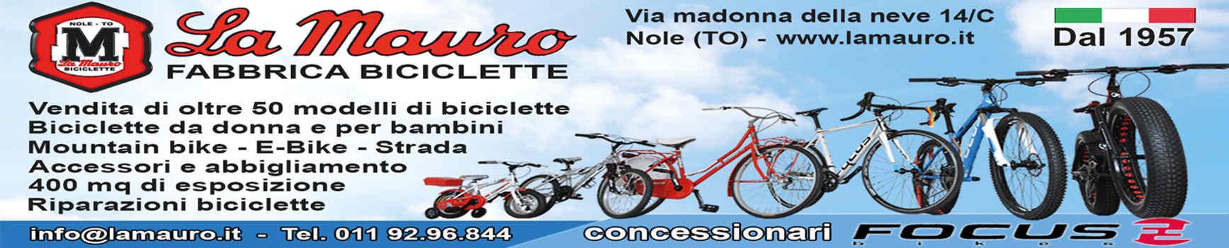 la mauro banner fabbrica di biciclette rivista promuovere